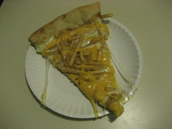 Cheese Fry Pizza Slice