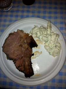 Ron's Prime Rib on a plate