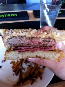 Inside the Reuben Burger