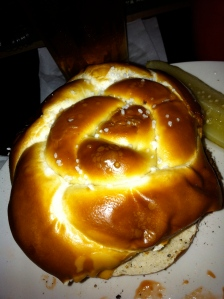 Cheesesteak Pretzel Roll