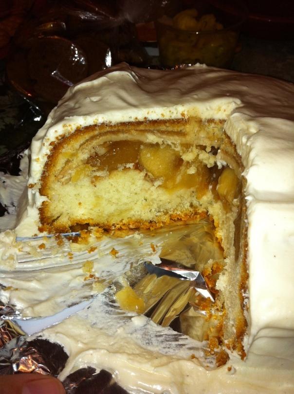 Closeup Pie In A Cake!