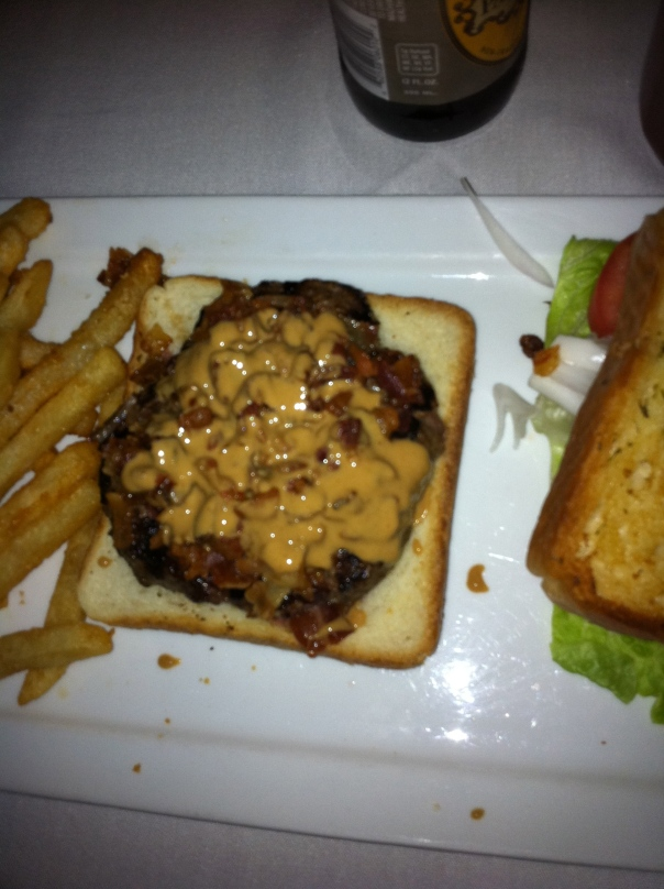 Peanut Butter & Bacon Burger @ Urban Saloon