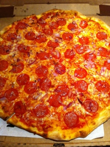 Pepperoni and Red Onion