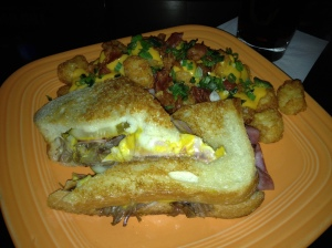 Cuban Sandwich with Loaded Tater Tots