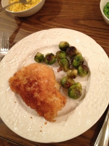 The final dish with the sprouts
