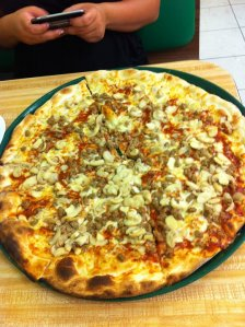 Sausage & Mushroom Pizza from Mack and Manco's in Ocean City, New Jersey