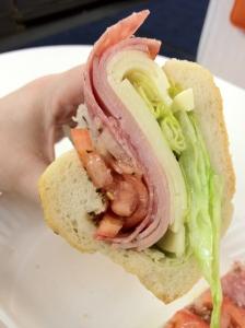 Another Ham, Cappicola, Genoa Salami & Provolone Cheese Sub Side Shot