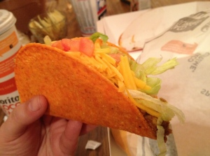 Another shot of the Doritos Locos Taco