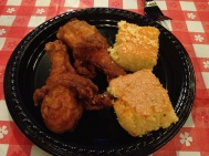 Fried Chicken and Cornbread from the Blues Blues and BBQ Event