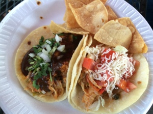 Machos Tacos Chicken Mole and Chicken Tacos!