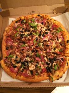 Pizza Hut Thin Crust Super Supreme